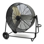 "Drum Fan, 36""D Direct Drive, Swivel Base"