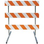 Telespar® Type III 8-Foot-Wide Barricades, Reflective One Side