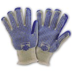 West Chester Double Layer  Loop-in Hot Mill Gloves with Blue Nitrile W Pattern