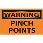 WARNING Pinch Points Label