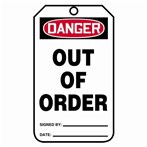 DANGER Out of Order Tags