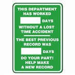 "Write-A-Day Scoreboard- ""This Department Has Worked..."