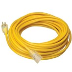 Coleman Cable Yellow Jacket Power Cords w/ Lighted End