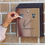 Rubbermaid® Smokers' Station® Wall Mount Urn with Keyed Cam