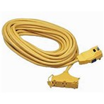 Coleman Cable GFCI, 15 A W/ 25' Cord, 12/3 Tri-Source Cord