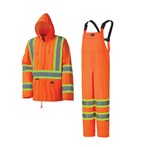 Sellstrom Lightweight Waterproof Safety Rain Suit,  2-Piece, ANSI/CSA, X-Back