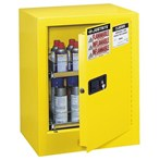 Justrite Sure-Grip EX Benchtop Yellow Flammable Safety Cabinet, Aerosol,15 Gallon