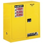 Justrite® Sure-Grip® EX Safety Cabinets, Flammables, 30 Gallon, Yellow
