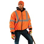 OccuNomix  LUX-ETJBJ ANSI Class 3 Safety Value Bomber Jacket, Orange