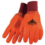 Memphis 6700F Premium Foam-lined Double-dipped Insulated Orange PVC Gloves