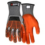 MCR UT2952  13-Gauge Multi-task Cut-resistant HPPE Gloves, Nitrile Foam Palm, TPR Back
