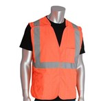PIP® ANSI Class 2 Safety Vest, Solid, Breakaway, Orange