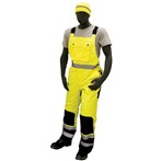 Majestic ANSI Class E High-Visibility Insulated Waterproof Bib Overalls, Lime/Black Quilted