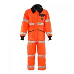 RefrigiWear ANSI Class 3 Hi-Vis Iron-Tuff Coveralls with Reflective Tape, Tall, Orange