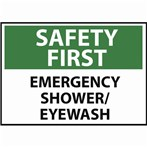 SAFETY FIRST Emergency Shower/Eyewash Sign