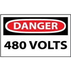 DANGER 480 Volts Label