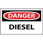 DANGER Diesel Label