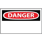 DANGER Heading Only Blank Label